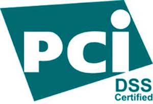 PCI DSS sertifisert. Logo.