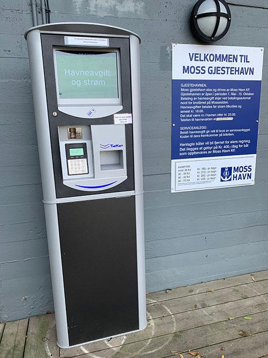 Ticketmaster for havneavgift hos Moss Gjestehavn