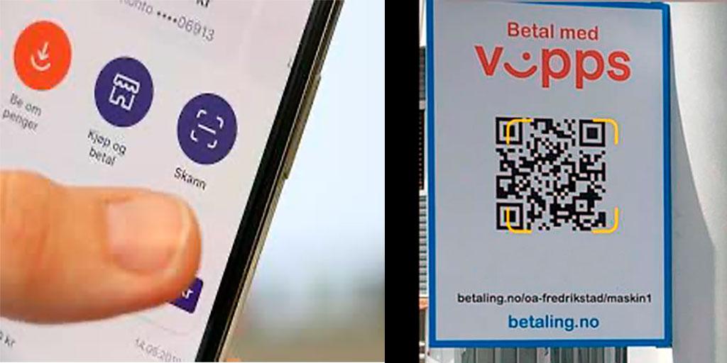 Skann QR kode direkte i Vipps appen