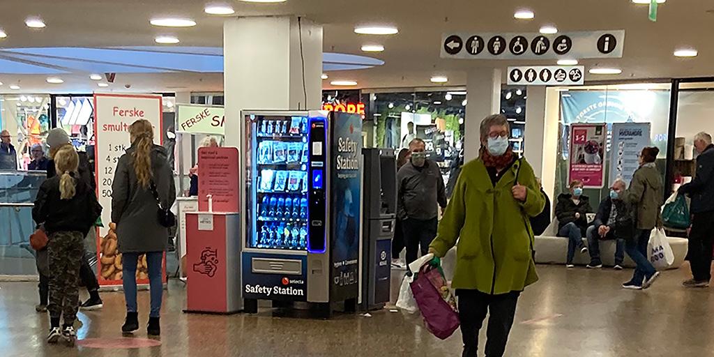 Vareautomat på kjøpesenter