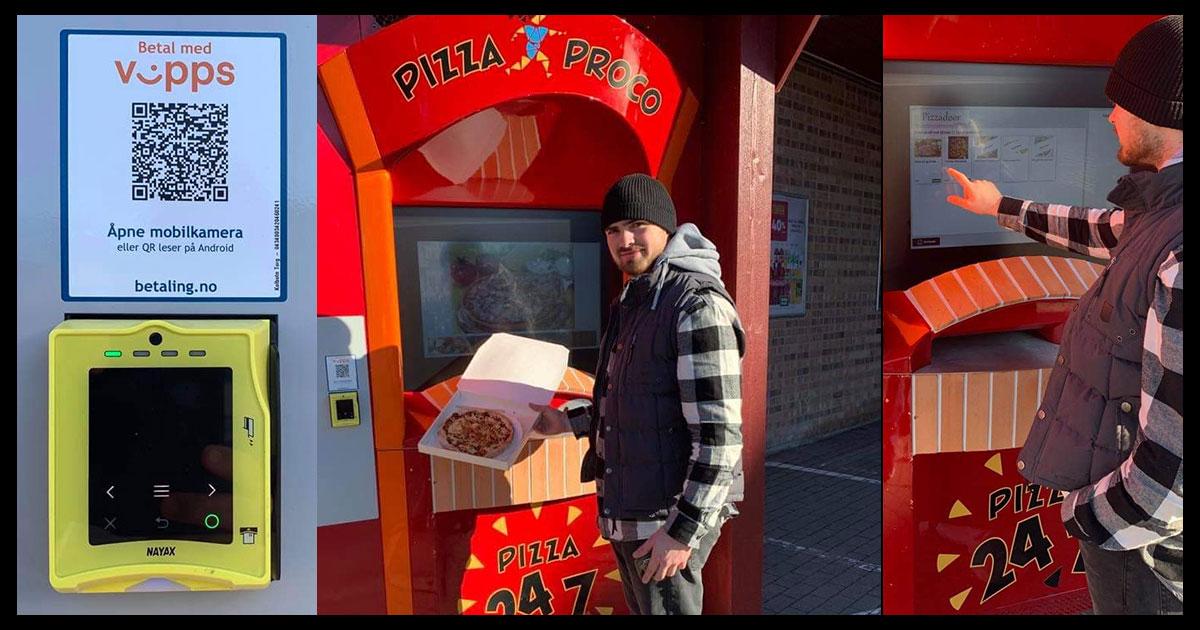 Pizza automat på Kolbotn