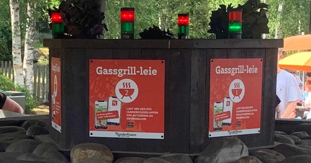 Gassgrill-leie på Hunderfossen